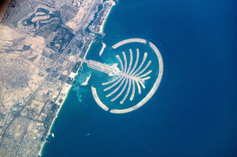 Palm Island Dubai UAE. One of its Emirates,